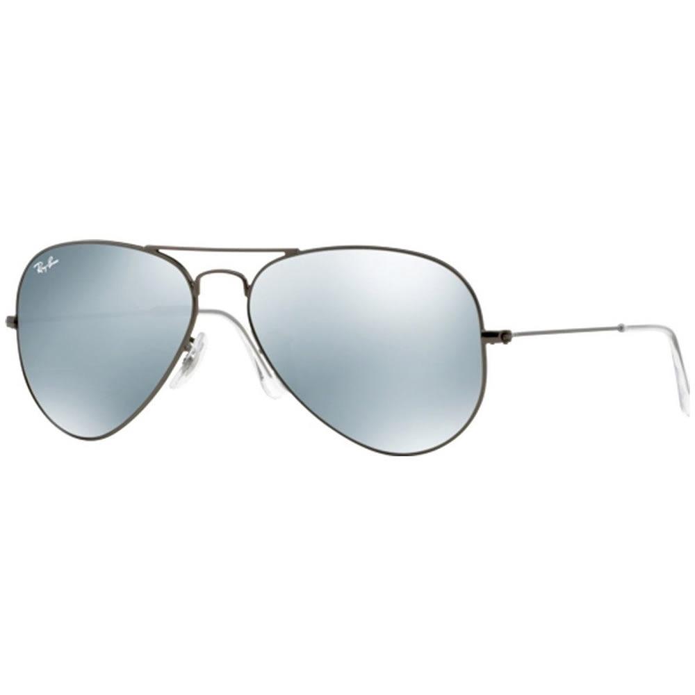 lentes ray ban rb3025 aviator espejo armazón plata