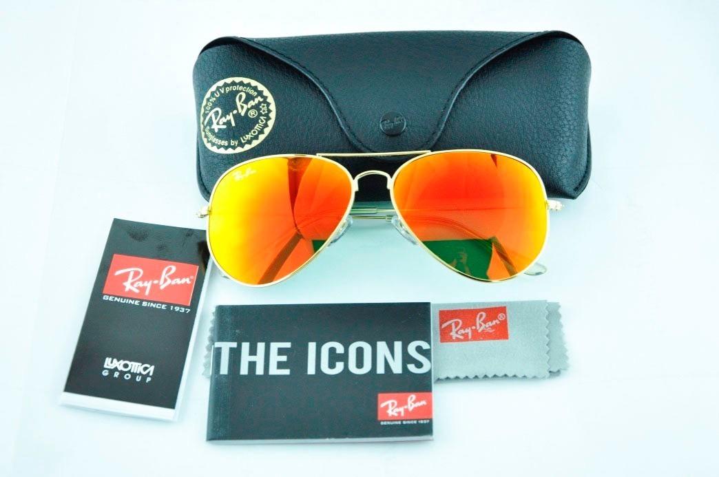 da5102d2a0 Ray Ban Aviator 3025 Gafas Lentes Originales - $ 2.420,00 en Mercado ...
