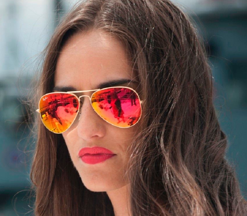 anteojos ray ban mujer modelo aviador
