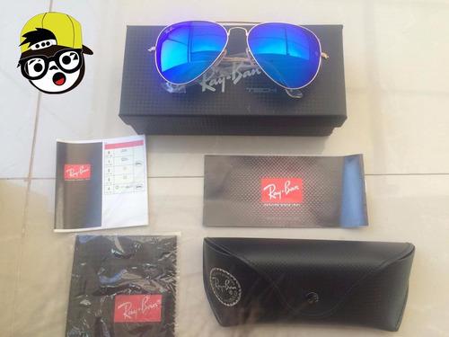 ray ban aviator azul 2016  made in italy