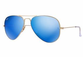 dc15ef709e7a4 Ray Ban Aviator Azul - The Flash Lenses Edition (original)
