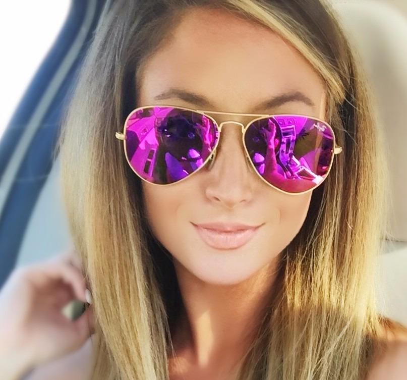 lentes ray ban aviator mujer