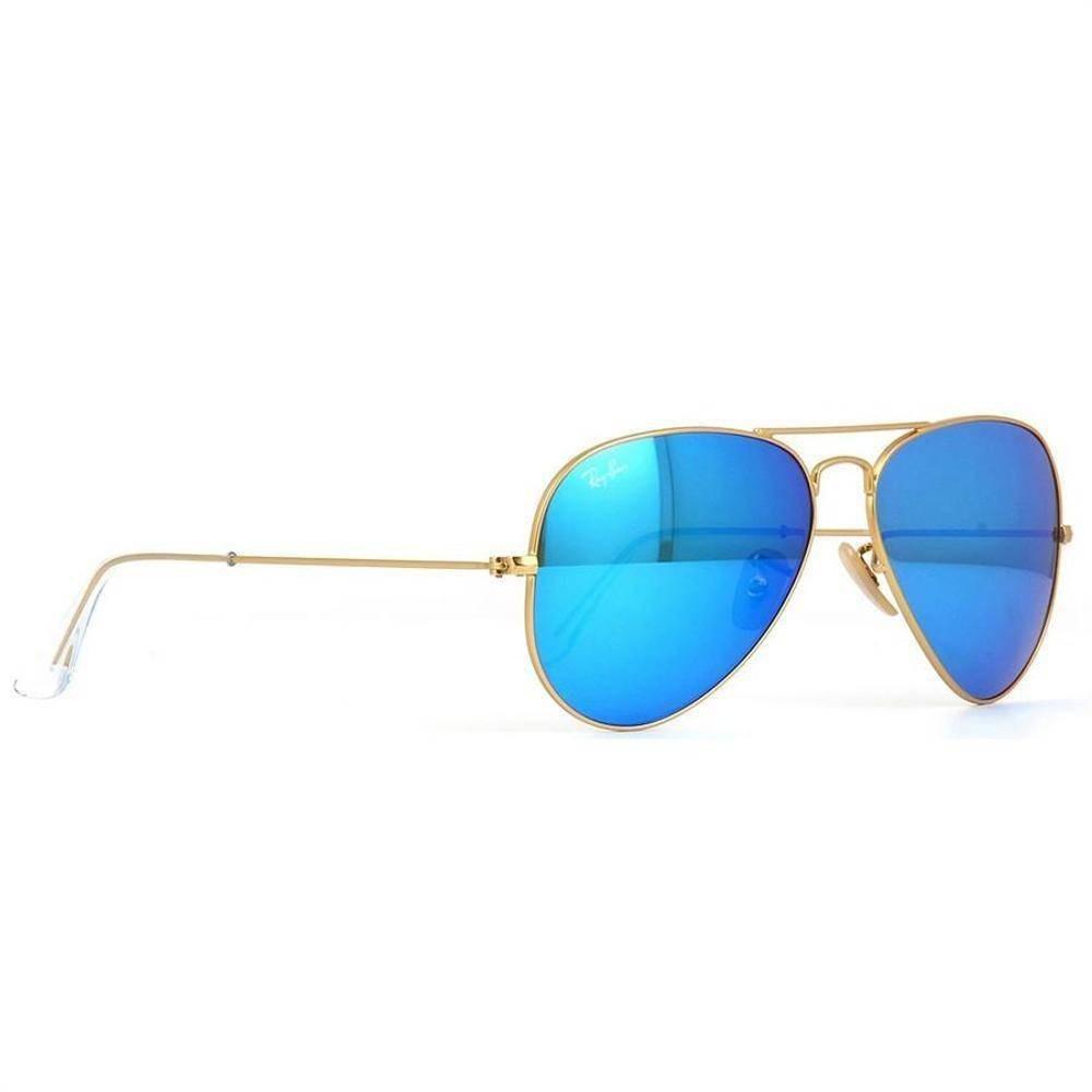 258e0843b8855 Ray Ban Aviator Espejado 3025 112 17 58 Oro Azul Brillante -   7.160 ...