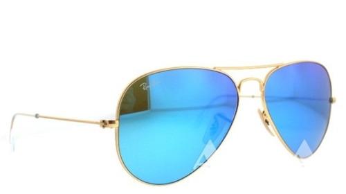 lentes ray ban aviator azules