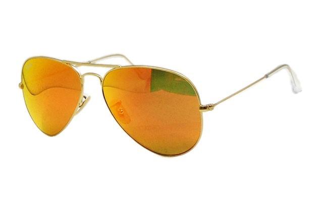 ray ban espejo naranja