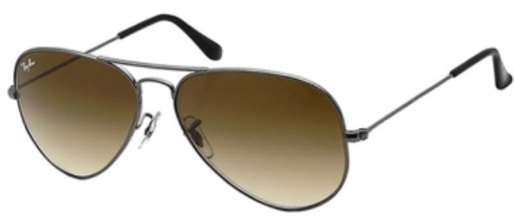 65bdb185905e6 Ray Ban Aviator Gota Chica Rb 3025 004 51 Gun Brown Gradradi ...