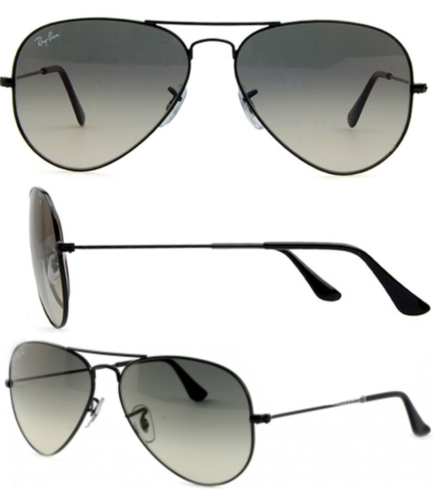2e9ba13728 ... real ray ban aviator gota grande rb 3026 002 32 black gradient. cargando  zoom. ...