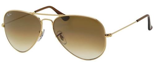 ray ban aviator gota mediana rb 3025 001/51 gold gradient