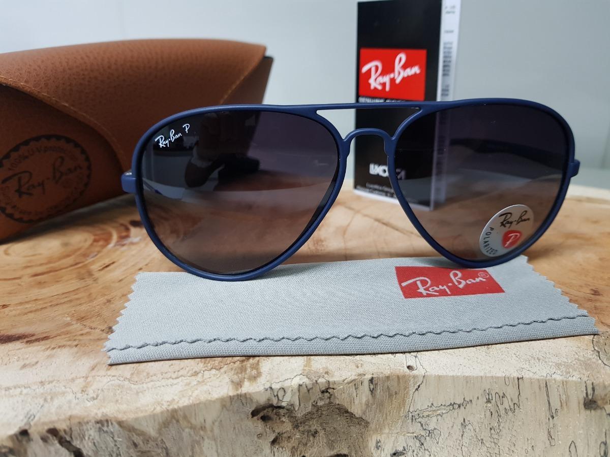 750221934dc47 Carregando zoom... óculos de sol ray-ban aviator 4180 azul liteforce  polarizado