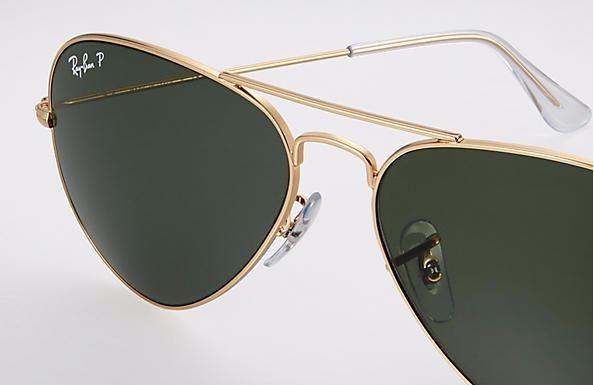Óculos De Sol Ray Ban Aviator Clássico G-15 Polarizado - R  580,00 ... 4343f9c1f0