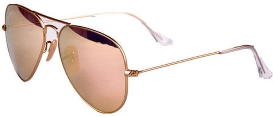263c10db02 ray ban aviator rb 3025 112/z2 espejo rosa dorado mediana. Cargando zoom.