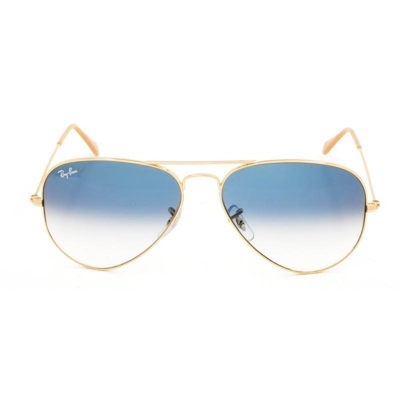 c0773a326ff37 ray-ban aviator rb 3025 azul degradê e dourado 62. Carregando zoom.