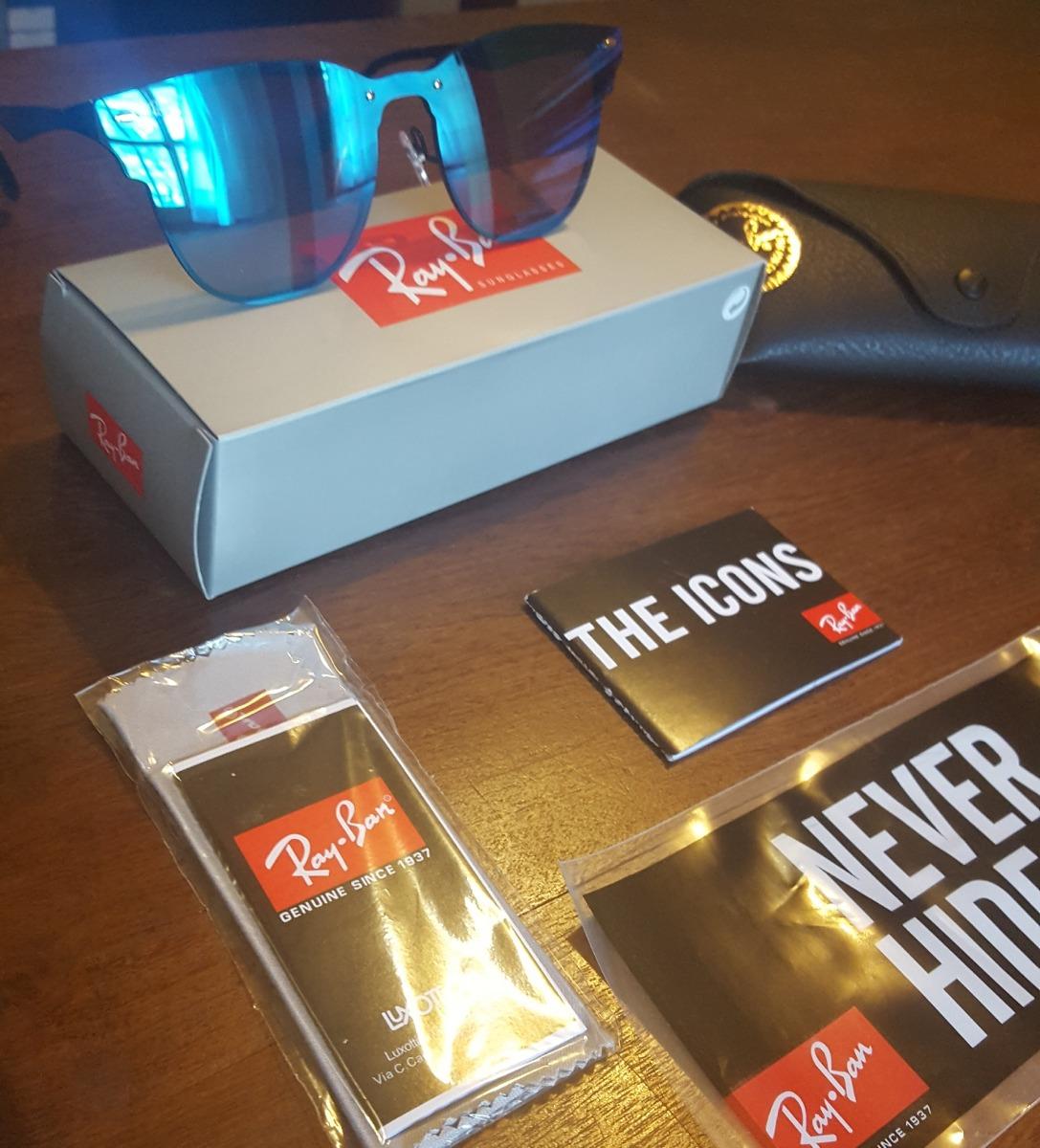 3d1891ef5d059 ray ban blaze clubmaster 3576 153 7v original nuevo en caja. Cargando zoom.