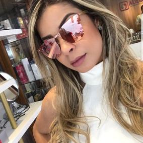 279e9e6ba Oculos Quadrado Espelhado Rosa - Óculos no Mercado Livre Brasil