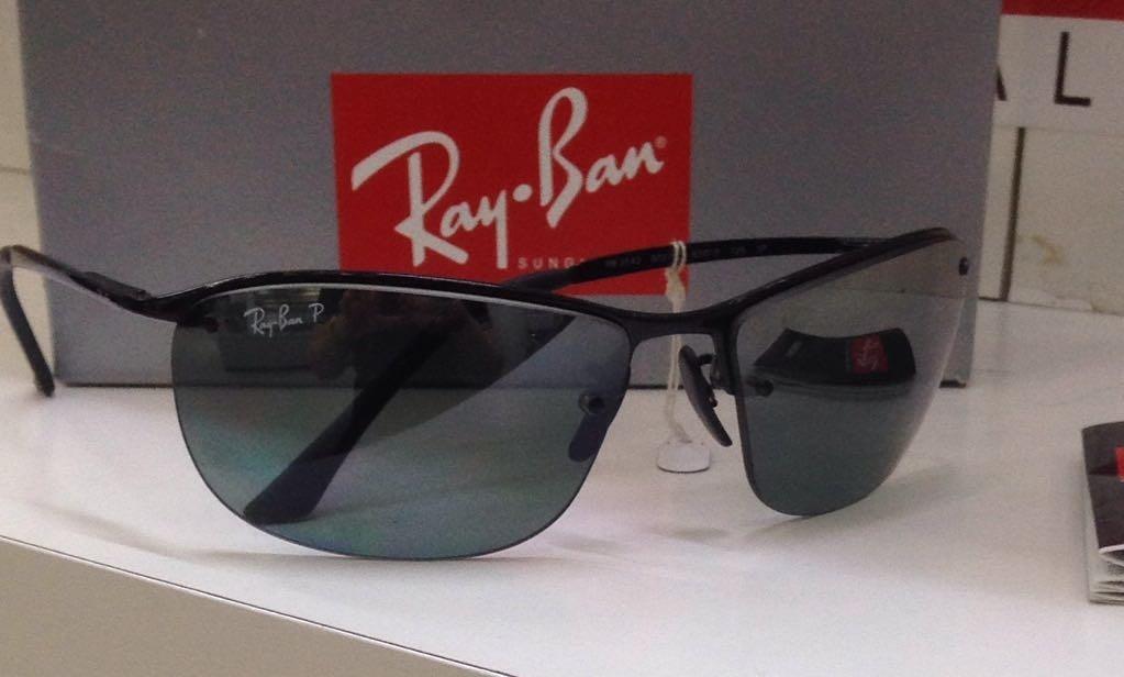 ray ban chromance rb3542 002 5l preto   prata polarizado. Carregando zoom. af6a34b305