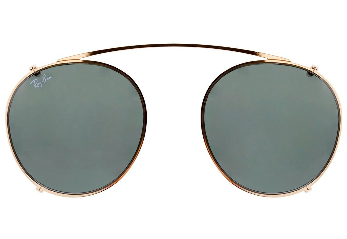 Ray Ban ClipOn RB2180C Dourado Qculoscom Sunglasses b388852986