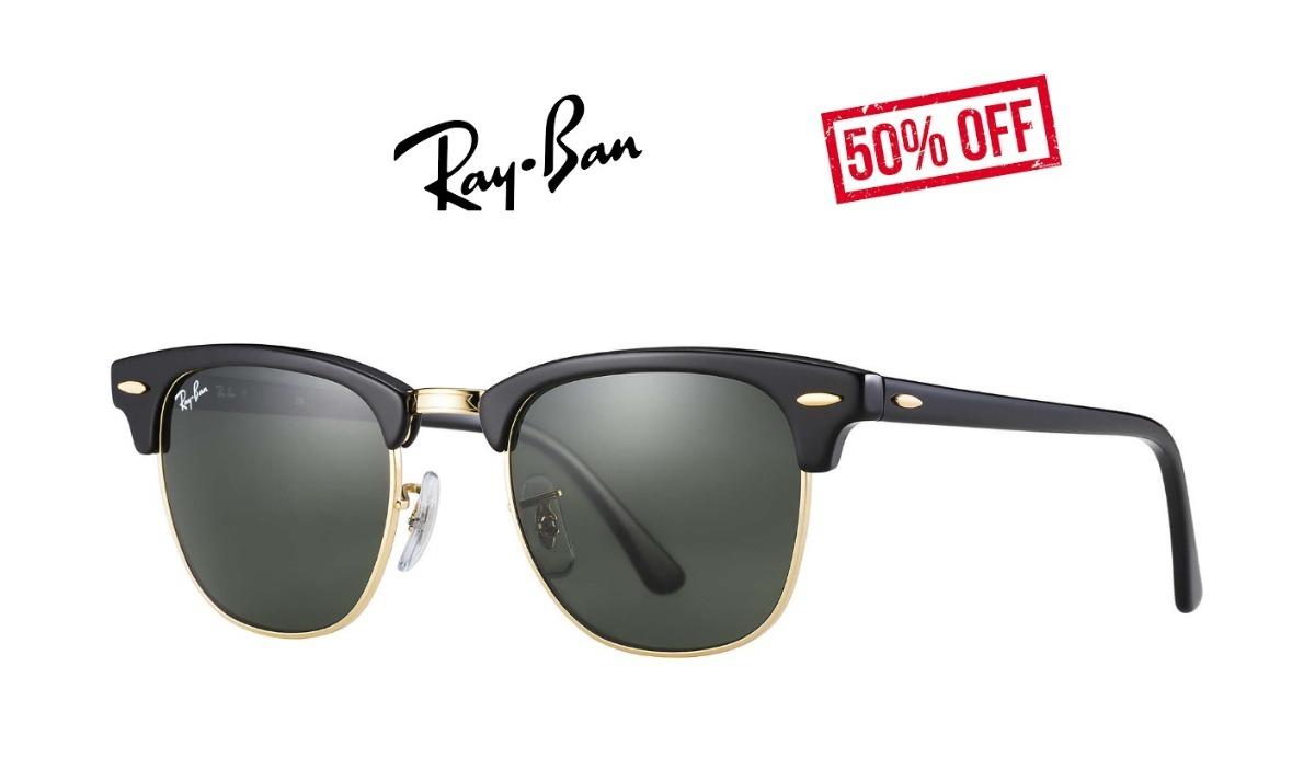 844a4b594 Ray Ban Clubmaster Rb3016 Original Preto Promoção Verão 2019 - R ...