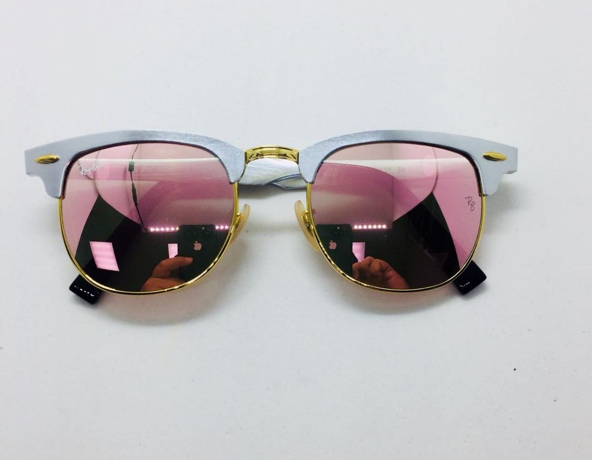 Ray Ban Clubmaster Alumínio 3507 Prata Com Rosa Original - R  230,00 em  Mercado Livre e5288c46ba