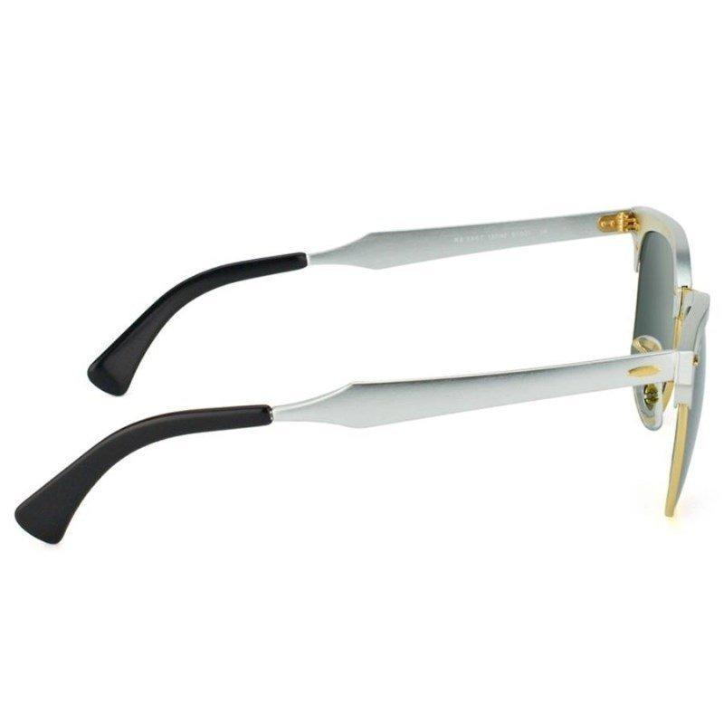 09195c3d8a4e5 Óculos De Sol Ray Ban Clubmaster Aluminum Rb3507 137 40 51 3 - R ...