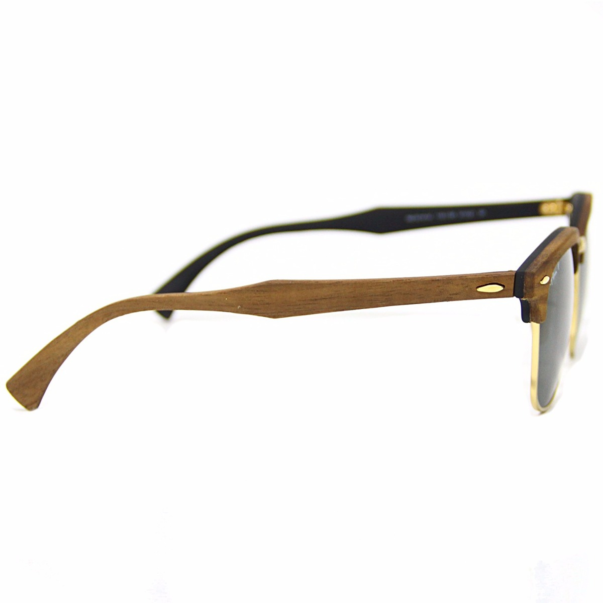 ac8af8fa4cce6 Óculos De Sol Ray Ban Clubmaster Wood Unissex Polarizado Len - R ...