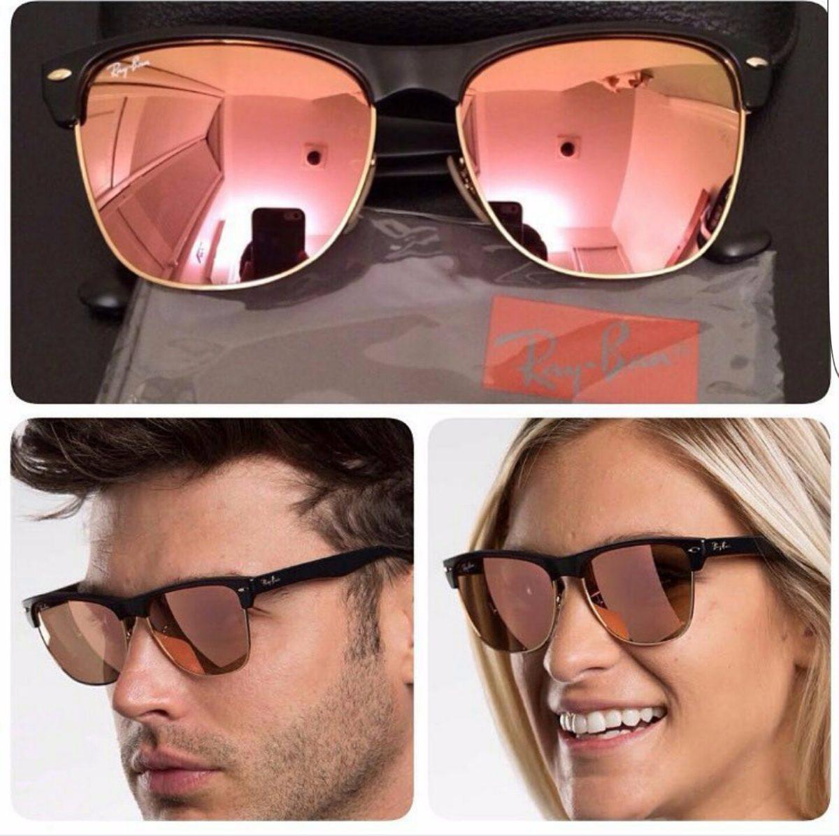 d629b19a6b32c ray ban clubmaster oversized rosa espelhado rb4175 original. Carregando  zoom.