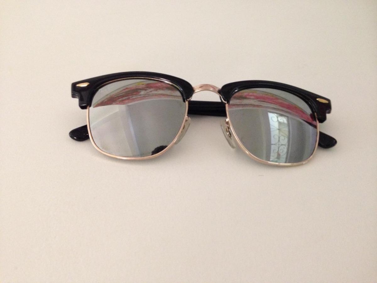 97886dcfbf5f1 ray ban clubmaster preto solar lente espelhada original. Carregando zoom.