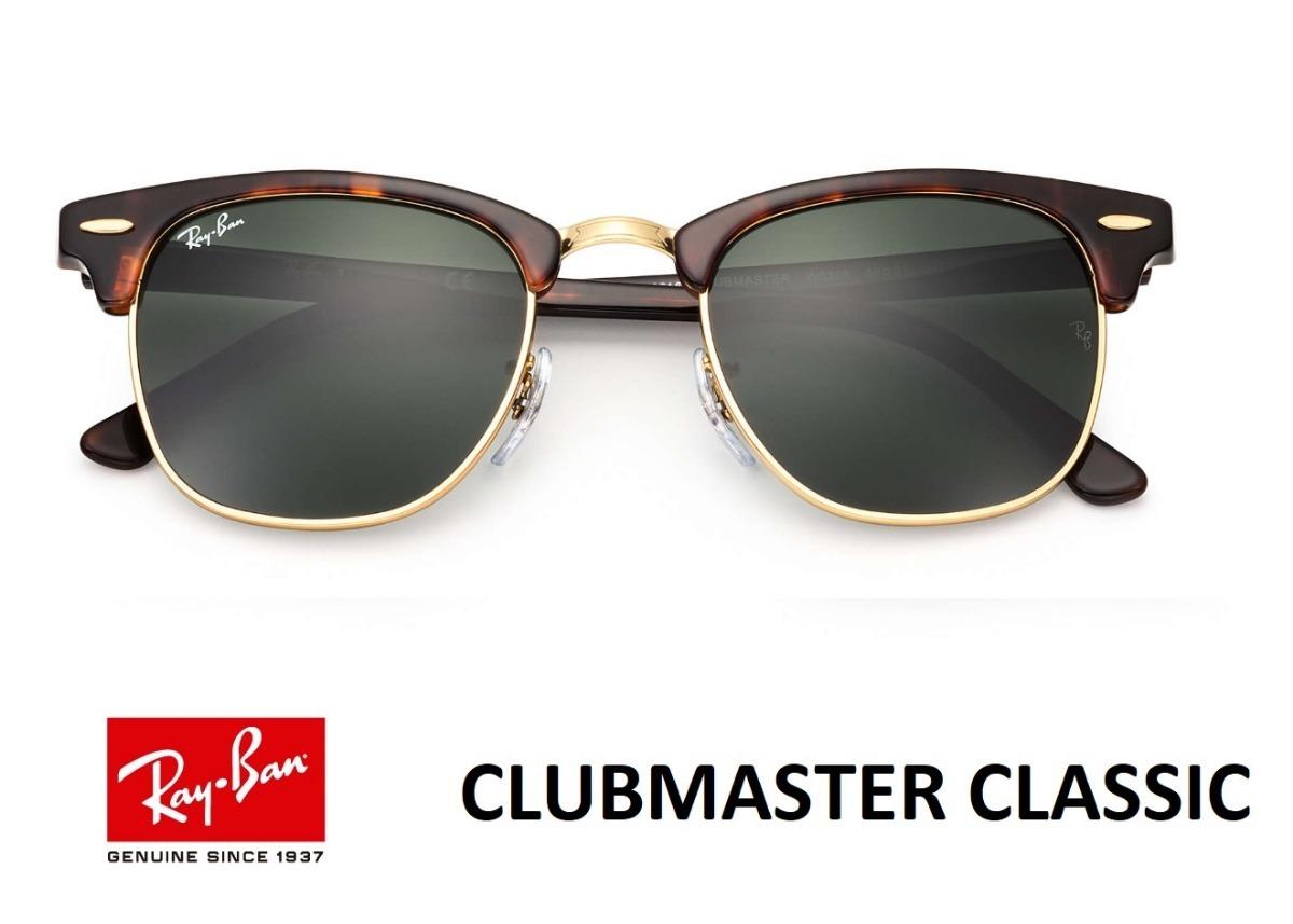 2a5ced3be4206 ray ban clubmaster rb 3016 original tartaruga com verde g15. Carregando zoom .