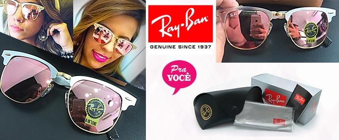 98f945e5a6f4f Ray Ban Clubmaster Rosa Aluminium Rb3507 Original - 50% Off - R  229 ...