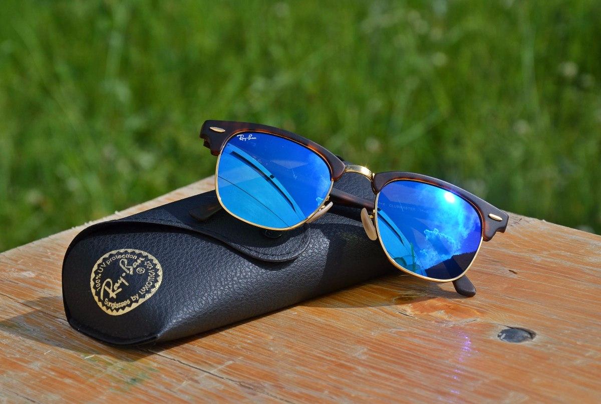 2ea075b7c ray ban clubmaster tartaruga azul espelhado rb 3016 original. Carregando  zoom.