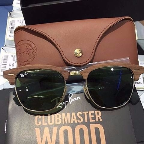 Ray Ban Clubmaster Wood Madeira Verde Escuro G15 Rb 3016 - R  450,00 ... 1c8ff9585d