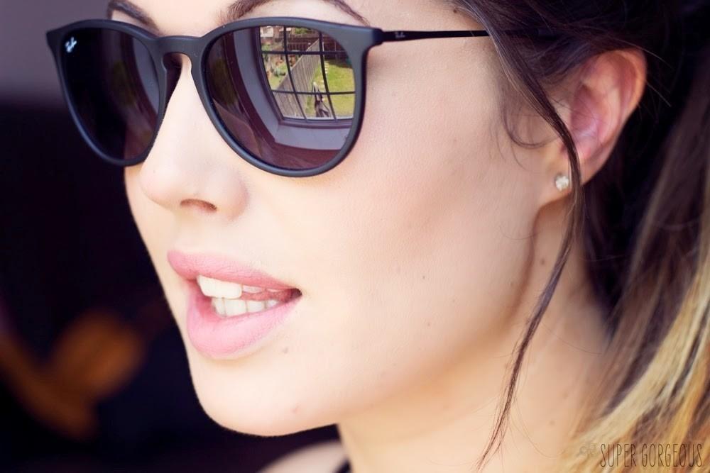 8307bae795ef9 2 Óculos De Sol Ray Ban Erika Rb4171 Preto Original Feminino - R ...