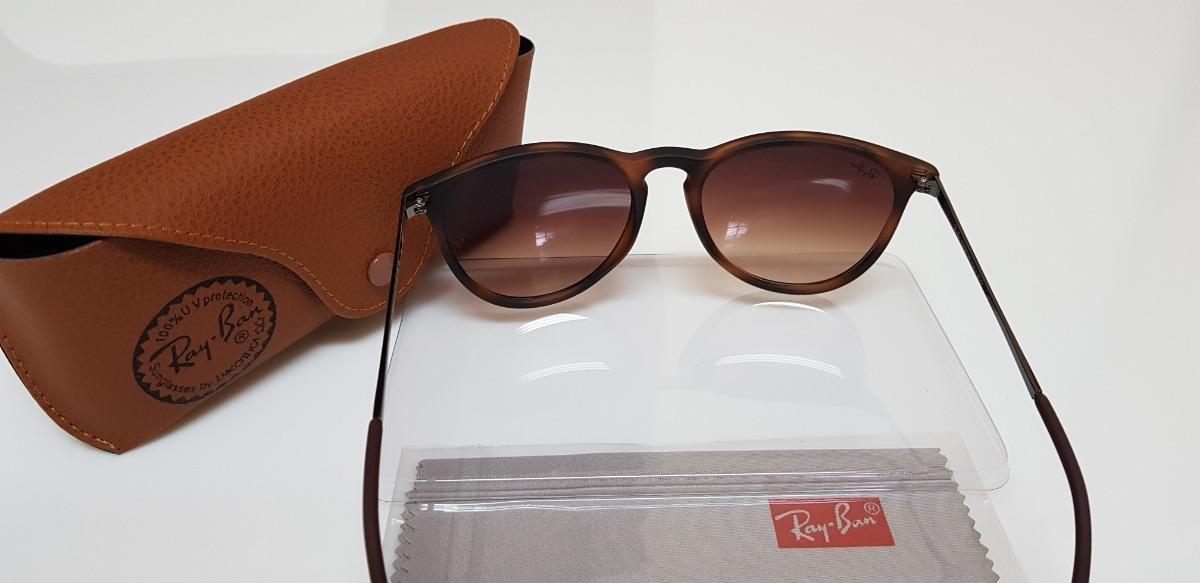 Óculos De Sol Ray-ban Érika Rb4171 Marrom Tartaruga Original - R ... ff6c628c2d