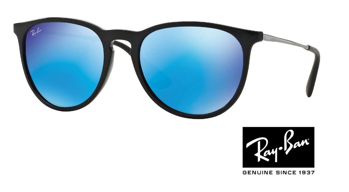 0aac07184 ray ban erika rb 4171 preto com azul espelhado original. Carregando zoom.