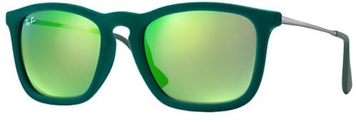 ray ban erika rb 4187 6082 3r velvet chris green mirror