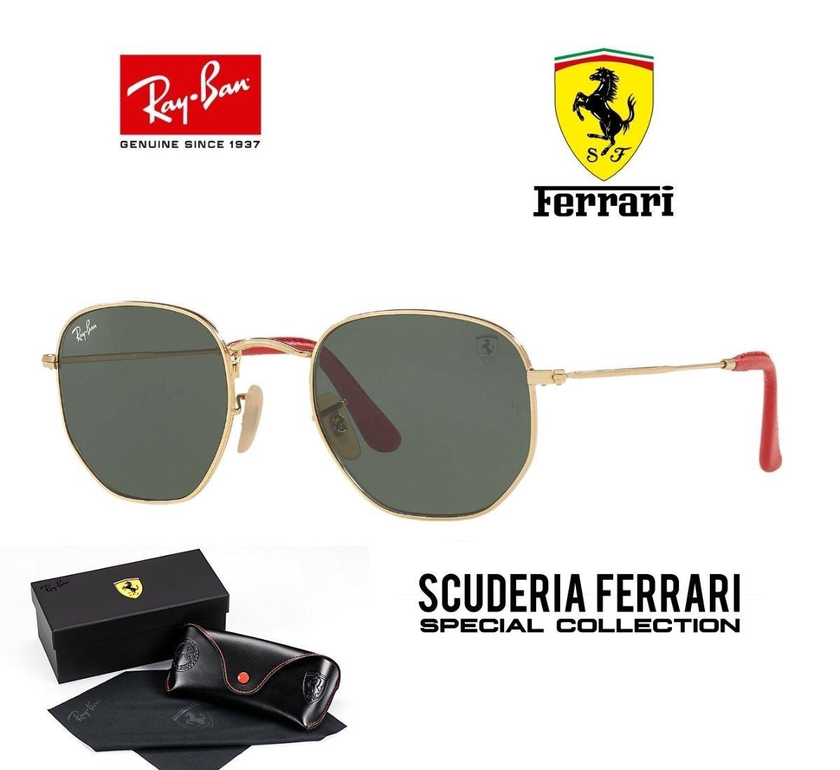 Ray Ban Hexagonal 3548 Ferrari Original + Boné Puma Brinde - R  449 ... a21c8f6077