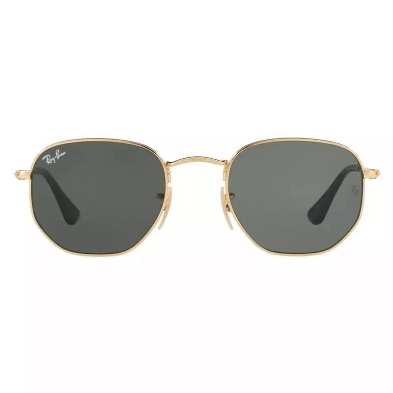 Ray Ban Hexagonal Clássico Dourado   Verde Rb3548 Original - R  309,90 em  Mercado Livre 42084d3b56