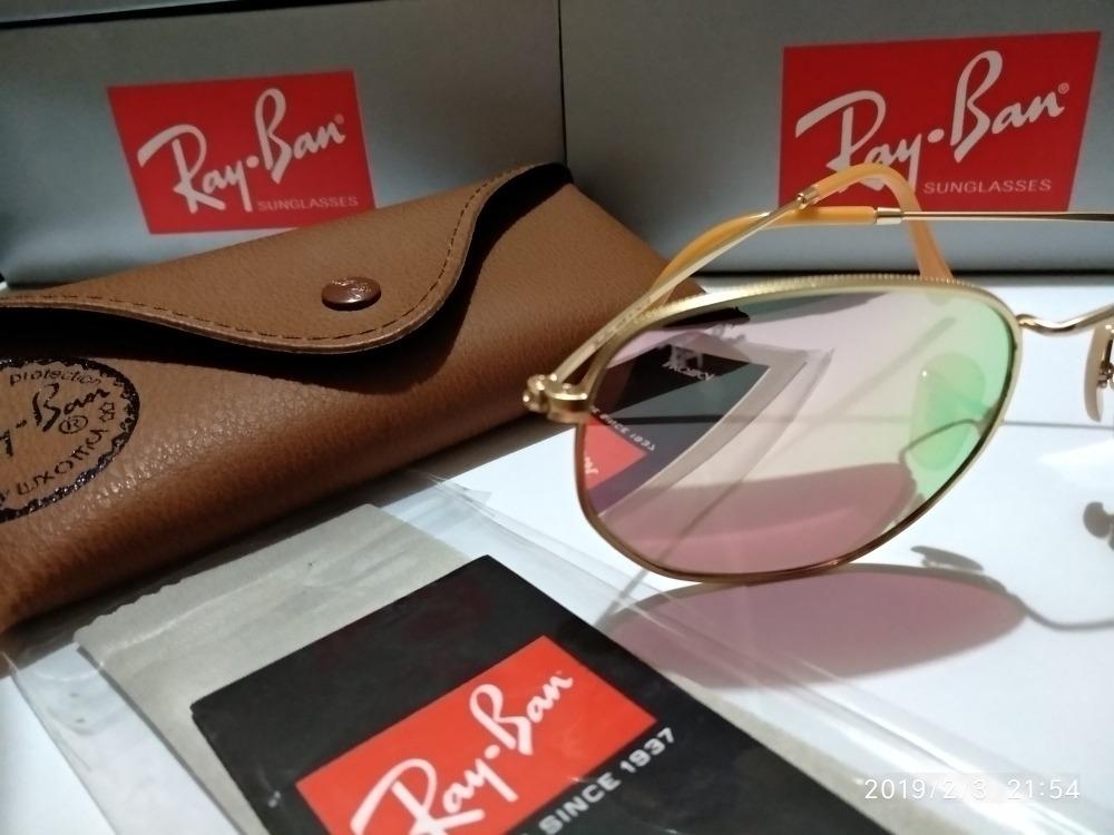 Ray Ban Hexagonal Dourado Lente Rosa Espelhado - R  319,00 em Mercado Livre 57c2b0bd44