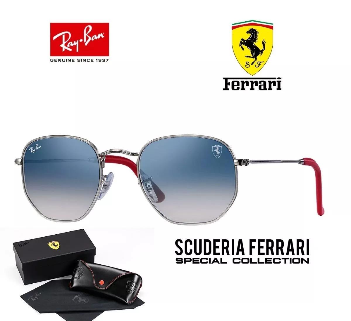 Ray Ban Hexagonal Rb3548 Ferrari Original Promoção!! - R  399,90 em ... 720a2f2d57