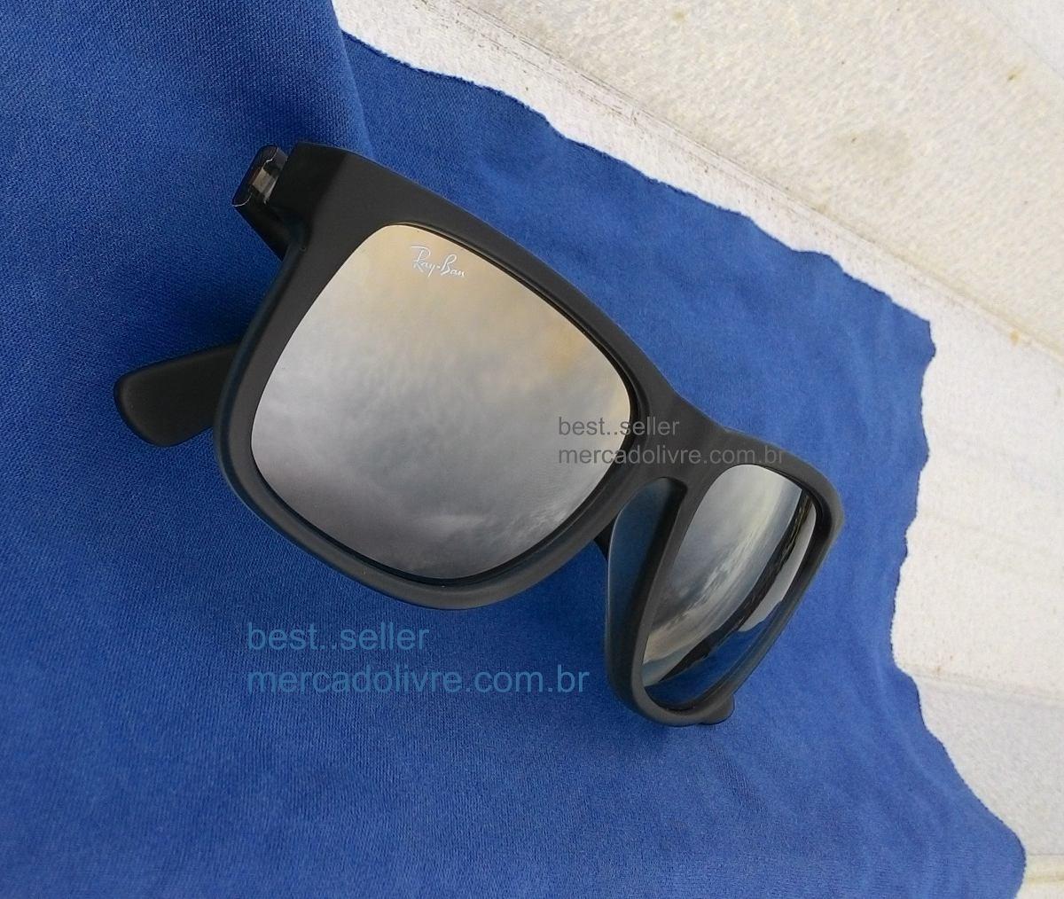 ray-ban justin 57 preto rb4165 622 6g fosco espelhado 4165. Carregando zoom. 845f099c5d