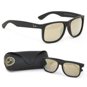 ffec765ea Oculos Feminino Espelhado Quadrado Ray Ban Justin - Óculos no ...