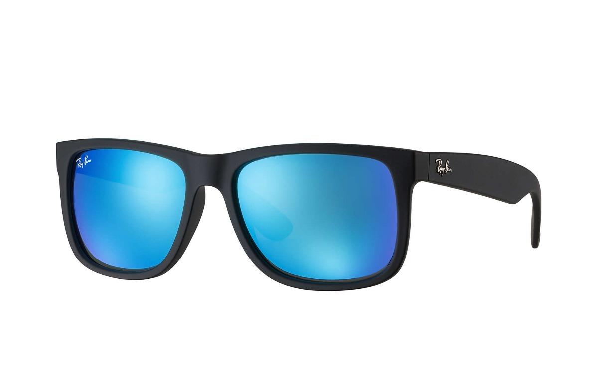 59cd2f9b0f3b8 ray ban justin preto rb4165 622 55 55 azul espelhado rb4165l. Carregando  zoom.