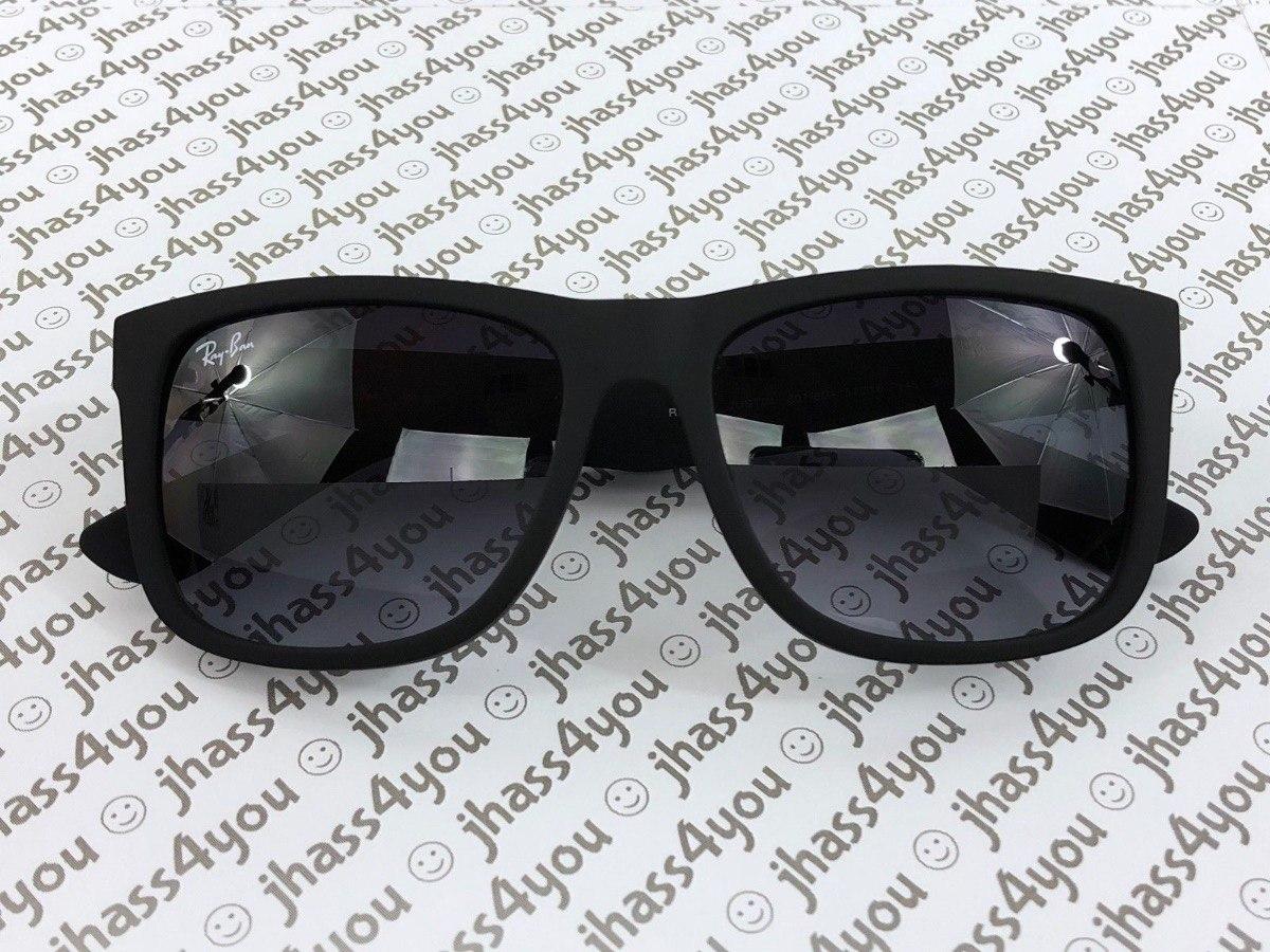 e52decabdeebb ray-ban justin rb4165 601 8g wayfarer sunglasses matte black. Cargando zoom.