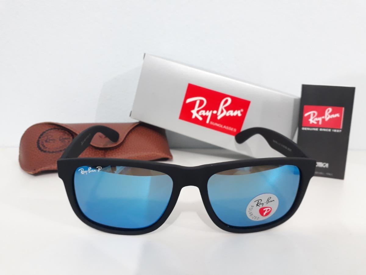 ray ban justin rb4165 azul espelhado masculino polarizado. Carregando zoom. d985a1ca46