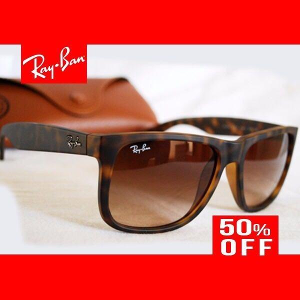 Ray Ban Justin Rb4165 Tartaruga Polarizado Original + Brinde - R ... f62338da06