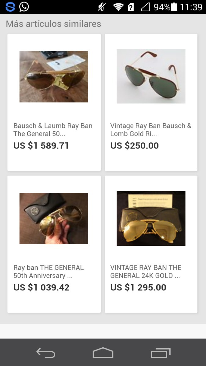 5dd921a309449 Lentes Ray Ban Originales Bausch   Lomb - Bs. 875.000