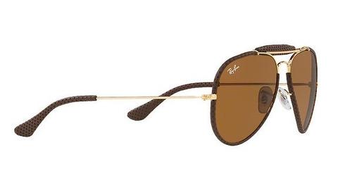 a689b073c0e82 Óculos Ray Ban De Couro - R  800