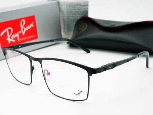8ae64d27d870e armacao ray ban oculos grau masculino titanio fechada preto · ray ban oculos