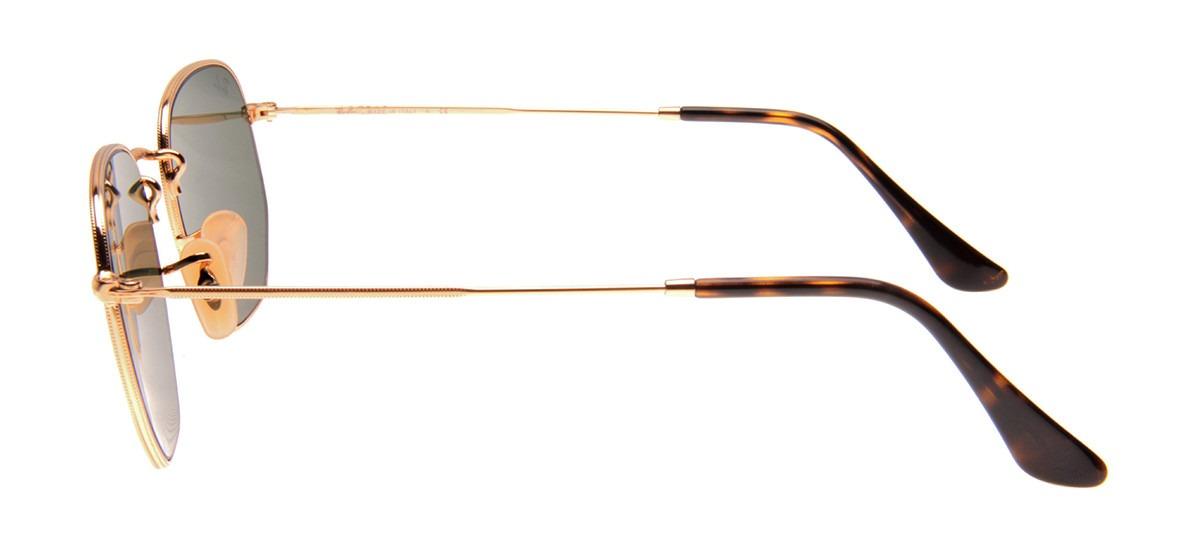 ee519a2d2ac1a Carregando zoom... oculos solar ray ban hexagonal rb3548 54mm original