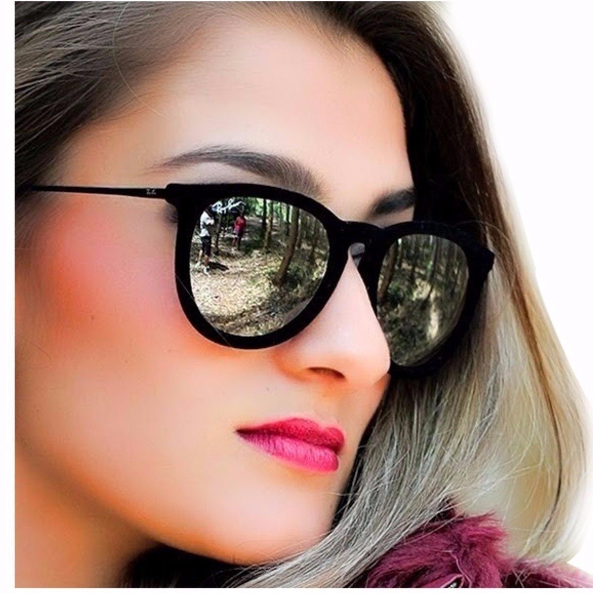 ray ban oculos de sol feminino erika velvet veludo espelhado. Carregando  zoom. 9b573615734d3