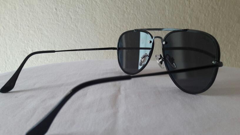 88b9cd8a281eb Óculos De Sol Ray Ban Blaze Aviador Black Original - R  385